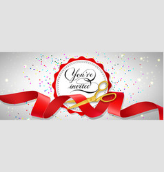 You are invited festive banner design with vector