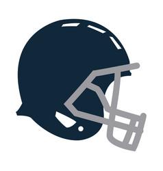 Blue football helmet protection equipment side vector
