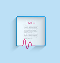 minimalistic frame with heartbeat sign template vector image vector image