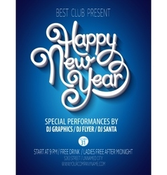 New Yearparty poster vector image vector image