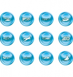 speed icons vector image