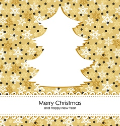 christmas backgr gold vector image vector image