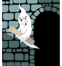 ghost steals the scroll vector image