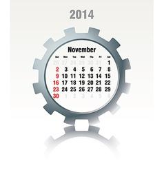 November 2014 - calendar vector image vector image