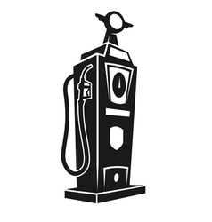 Silhouette of retro gas pump vector image vector image