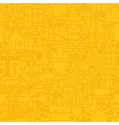 Thin Yellow Construction Line Seamless Pattern vector image