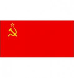 ussr flag vector image