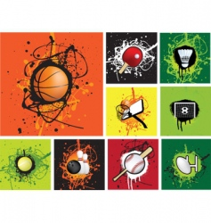 grunge sports vector image vector image
