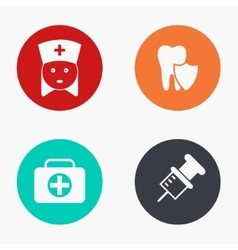 modern medicine colorful icons set vector image vector image