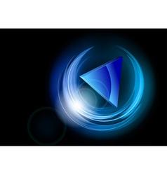 neon dark round blue vector image vector image