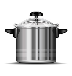 pressure cooker for cooking vector image vector image