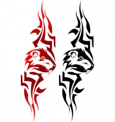 rat tattoo vector image vector image