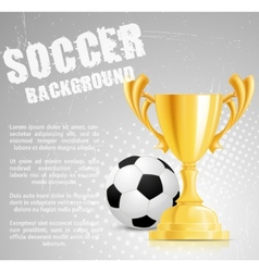 soccer competition vector image vector image
