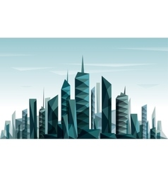 Abstract futuristic City made with triangle and vector image vector image