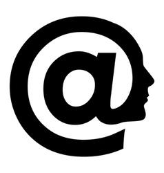 Abstract symbol of AT vector image