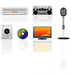 appliance icons set vector image
