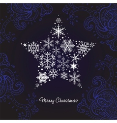Christmas star of the Snowflakes vector image vector image