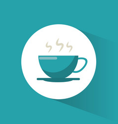 coffee cup hot drink vector image