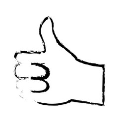 hand man ok like gesture icon image vector image vector image
