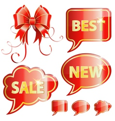 Holiday Speech Bubbles vector image vector image