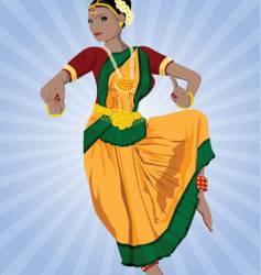 Indian dancer vector image