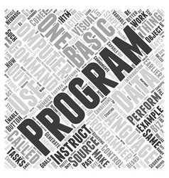Introduction to Programming Word Cloud Concept vector image vector image