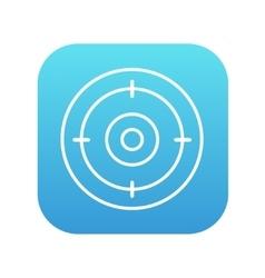 Target board line icon vector image vector image
