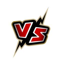 versus letters vs logo vector image vector image