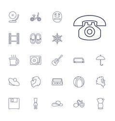 22 retro icons vector