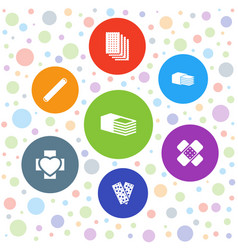7 plaster icons vector