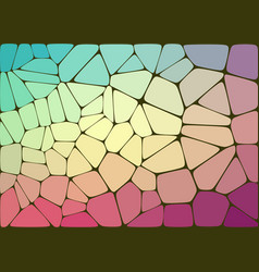 Abstract composition with voronoi geometric shapes vector