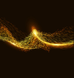 Abstract destroyed orange flame mesh vector