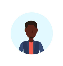 african american man avatar isolated faceless male vector image