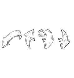 arrows hand drawn sketch vector image
