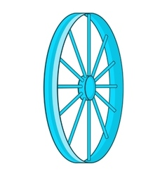 Bicycle wheel symbol icon cartoon style vector image