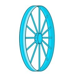 Bicycle wheel symbol icon cartoon style vector