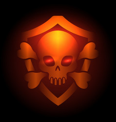 biker club poster with skull emblem vector image