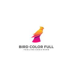 bird eagle colorful designs concept template vector image