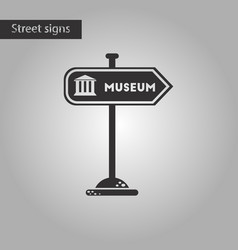 black and white style icon museum sign vector image