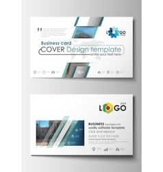 Business card templates Cover design template vector image