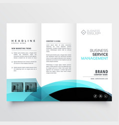 business trifold brochure template design vector image