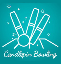 Candlepin bowling simple vector