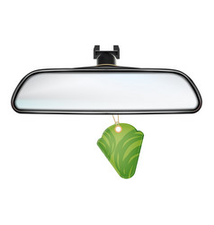 Car rearview mirror with air freshener vector