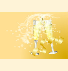 celebration toast with champagne vector image