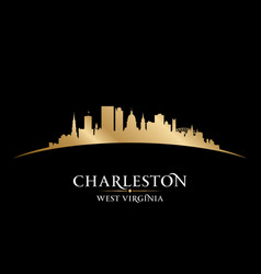 Charleston west virginia city silhouette black vector