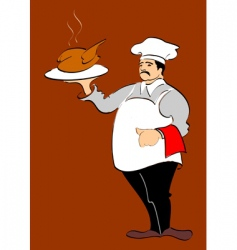 chef hand drawn illustration vector image