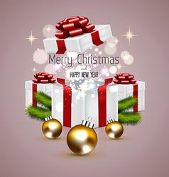 cHRISTMAS CARD and gift box vector image