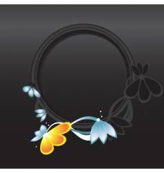 circular frame vector image