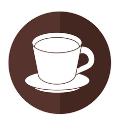 Coffee cup plate shadow vector