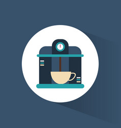 Coffee machine hot beverage vector